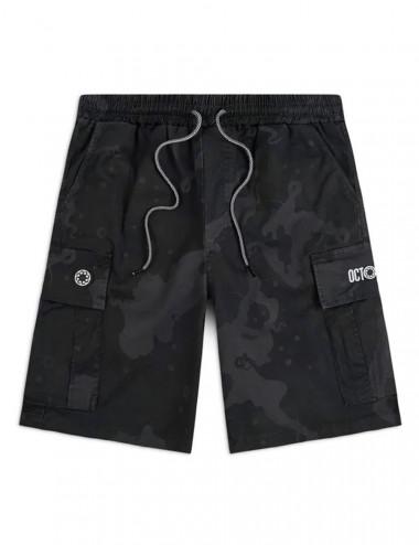 Camo cargo jogger shorts