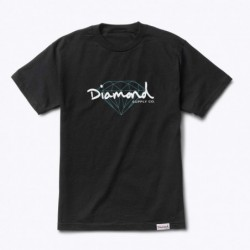T-shirts Diamond supply Brilliant script tee E20DIABRSBLK