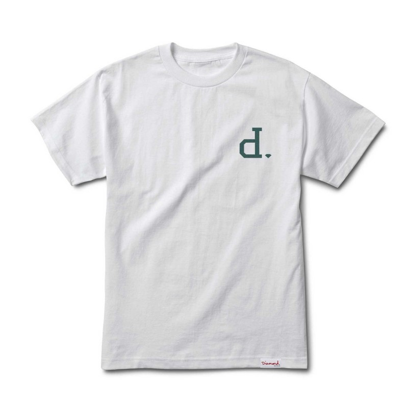 T-shirts Diamond supply Un-polo tee E20DIAUNPWHT