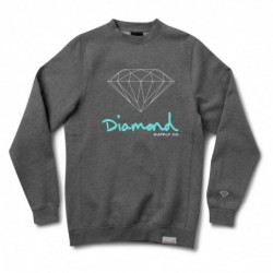 Diamond supply Felpe girocollo Og sign crew E31DIAOGSICHH