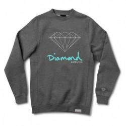 Felpe girocollo Diamond supply Og sign crew E31DIAOGSICHH
