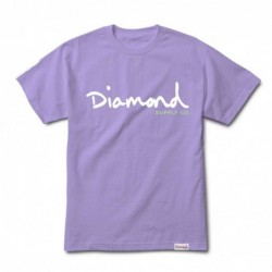 T-shirts Diamond supply Og script tee E20DIAOGSLAV