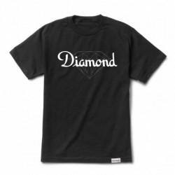 T-shirts Diamond supply Champagne cut tee E20DIACHCBLK
