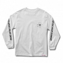 T-shirt maniche lunghe Diamond supply Outshine longsleeve E19DIAOUTWHT