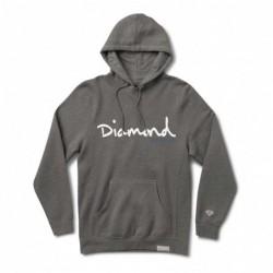 Felpe cappuccio Diamond supply Og script hood E35DIAOGSCHH