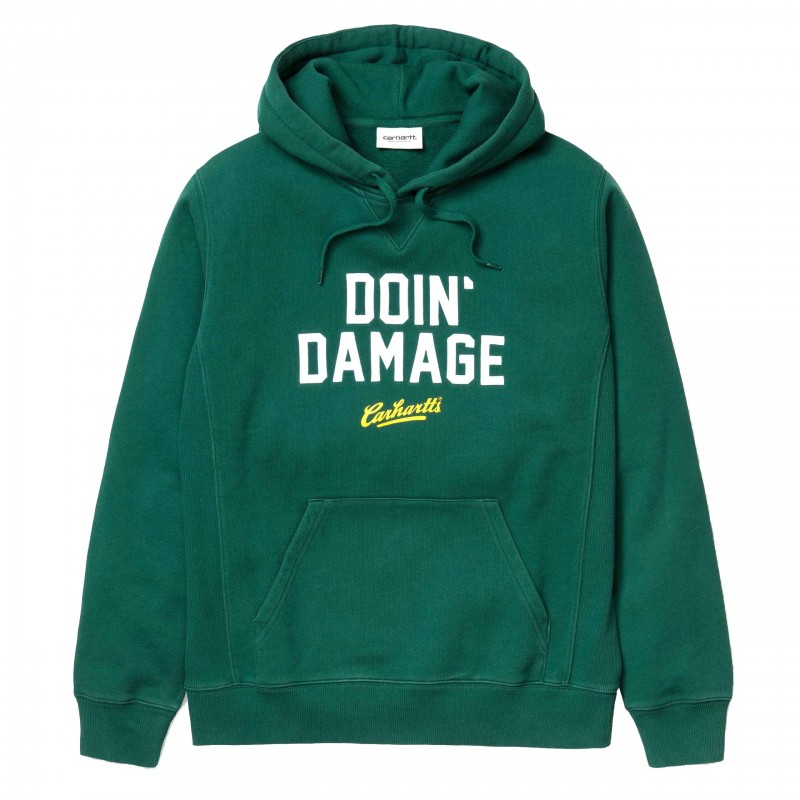 Carhartt Felpe cappuccio Hooded doin' damage sweatshirt I023802