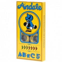 Cuscinetti skate Andale bearings Abec 5 yellow 5480