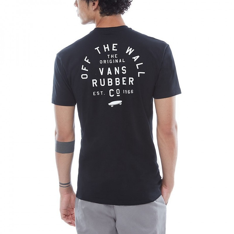 T-shirts Vans Stacked rubber ss VA3H9IBLK