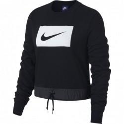 Felpe girocollo Nike sportswear W nsw crew crop swoosh 893035-010