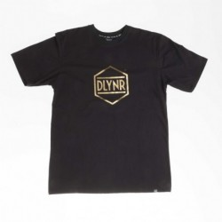 T-shirts Dolly noire Hexagon gold TS129