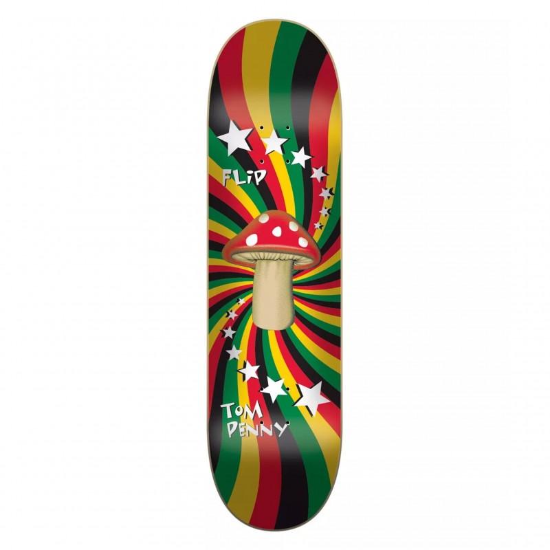 "Deck skate Flip skateboard Rasta shroom 8.25\\"" FLBP7B05-09"