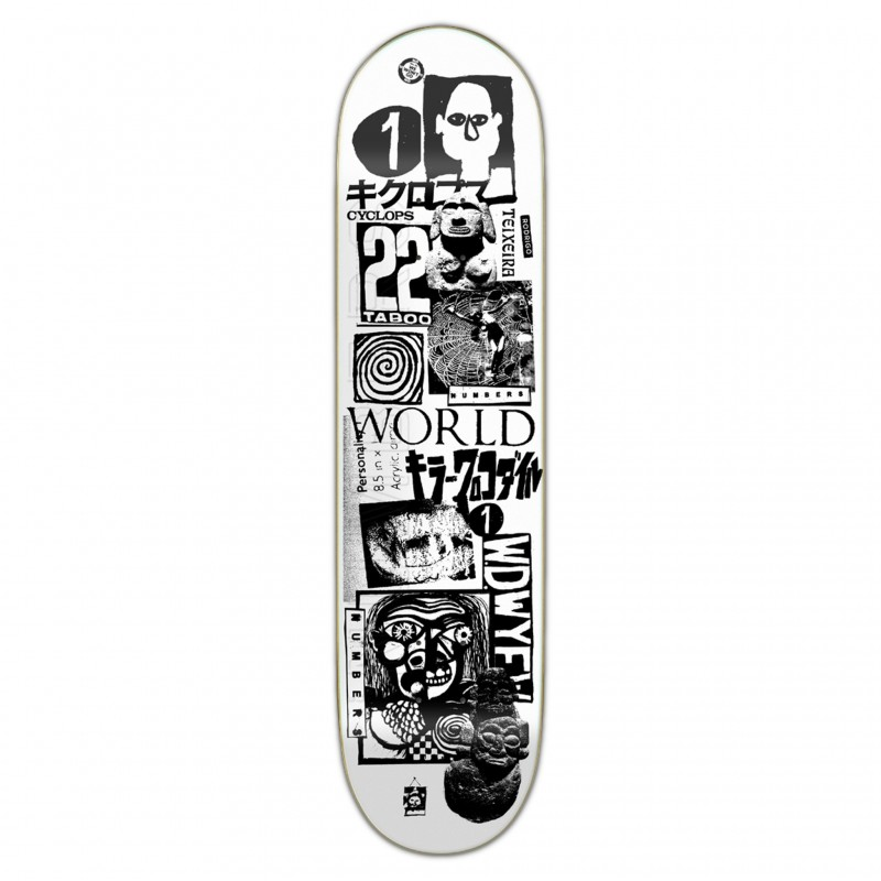 """Deck skate NUMBERS Teixeira deck edition 4 8\\"""" NUMED4TX8"""