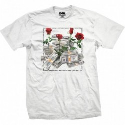 T-shirts Dgk Stacks tee white E20DGKSTAWHT