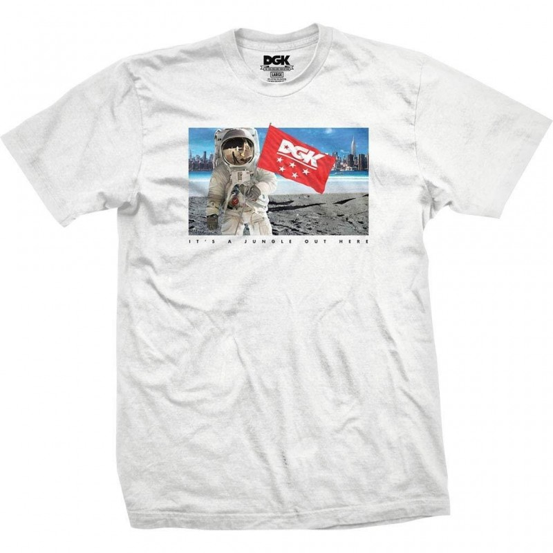 T-shirts Dgk Out here tee E20DGKOUHWHT