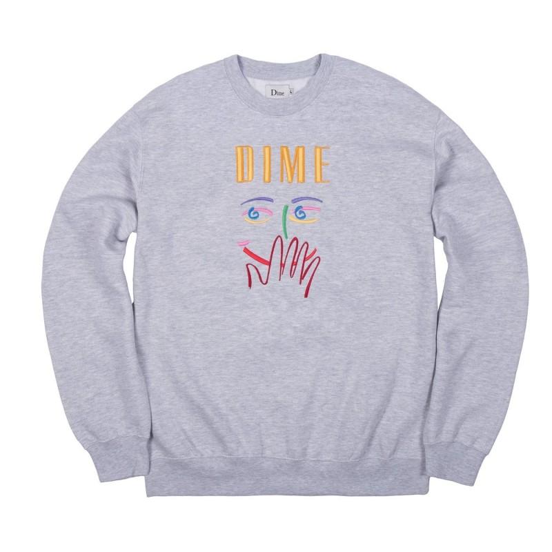 Dime mtl Felpe girocollo Visage embroidered crewneck DIMES1821