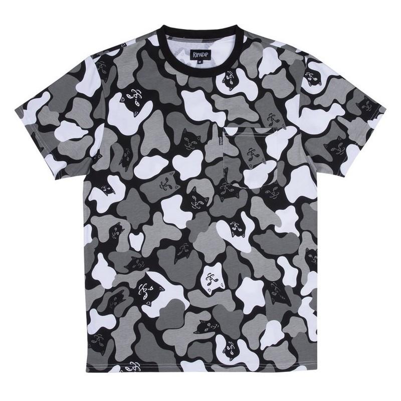 T-shirts Ripndip Blizzard camo tee RIP1449