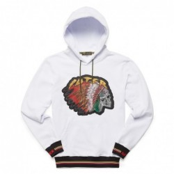 Iuter Felpe cappuccio Felpa Indian skull hoodie 18WISH61