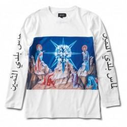 T-shirt maniche lunghe Diamond supply Savior l/s tee E19DIASAVWHT