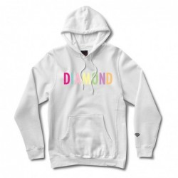 Diamond supply Felpe cappuccio Colour pop hood E35DIACOPWHT