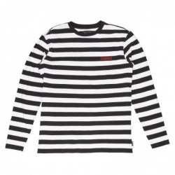 T-shirt maniche lunghe Diamond supply Striped l/s tee E19DIADISBLKWHT