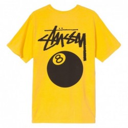 Stussy T-shirts 8 ball pigment dyed tee 1904276