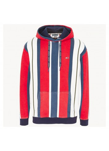 Tommy hilfiger Tjm vertical stripe hoodie - DM0DM06585667 | Shapestore.it
