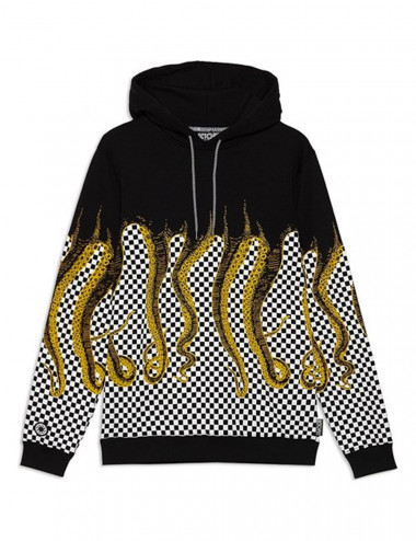 Octopus Checkered hoodie - 19WOSH13 | Shapestore.it