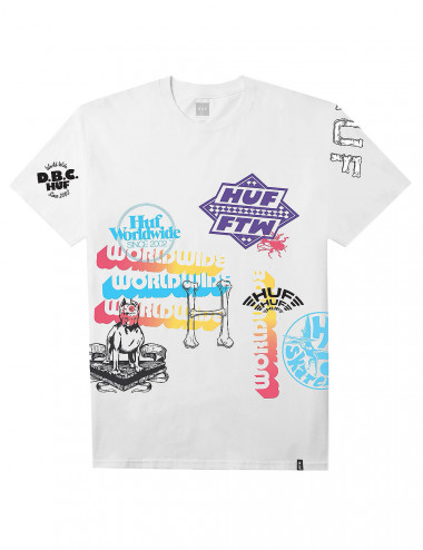 Huf Test print tee - 712190042 | Shapestore.it