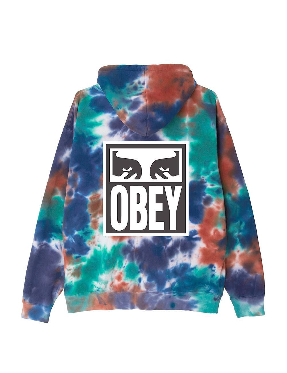 Obey Eyes icon tie dye pullover hooded - 225190180BT | Shapestore.it