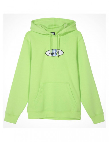 Stussy 2 bar applique hoodie