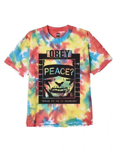 Speak up heavyweight tie dye tee